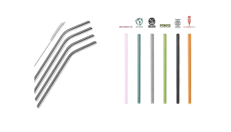 Aluminum and glass straws