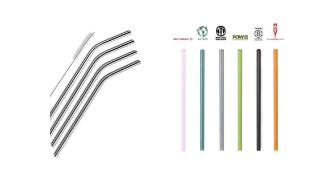 Aluminum and glass straws